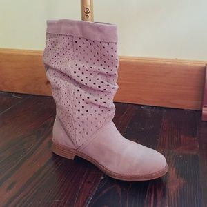 TOMS suede cut out boots